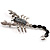 Jet-Black Jumbo Scorpio Brooch
