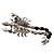Jet-Black Jumbo Scorpio Brooch - view 2