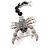 Jet-Black Jumbo Scorpio Brooch - view 3