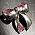 Silver Tone Pink Crystal Bow Brooch - view 5