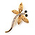 Gold Plated Filigree Crystal Dragonfly Costume Brooch