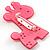 Crystal Pink Baby Giraffe Plastic Brooch - view 3