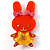 Pretty Orange Bunny Girl Plastic Brooch - view 2