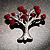 Love Tree Fashion Brooch
