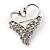 Swan Heart Crystal Brooch (Clear Crystal)