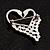 Swan Heart Crystal Brooch (Clear Crystal) - view 4