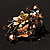 Fancy Butterfly And Flower Brooch (Gold & Light Citrine) - view 6