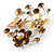 Fancy Butterfly And Flower Brooch (Gold & Light Citrine) - view 4