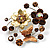 Fancy Butterfly And Flower Brooch (Gold & Light Citrine) - view 5