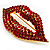 Sexy Red Crystal Lips Brooch - view 2