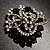 Striking Diamante Corsage Brooch (Black&Clear) - view 4