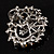 Striking Diamante Corsage Brooch (Black&Clear) - view 6