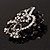 Striking Diamante Corsage Brooch (Black&Clear) - view 8