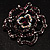 Stunning Violet Crystal Rose Brooch - view 7