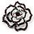 Stunning Violet Crystal Rose Brooch - view 5