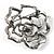 Stunning Violet Crystal Rose Brooch - view 4