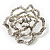 Stunning Clear Crystal Rose Brooch - view 8