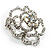 Stunning Clear Crystal Rose Brooch - view 3