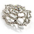 Stunning Clear Crystal Rose Brooch - view 2