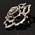 Stunning Clear Crystal Rose Brooch - view 9