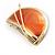 Orange Crescent Moon Ethnic Brooch - view 14