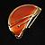 Orange Crescent Moon Ethnic Brooch - view 13