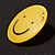 Yellow Plastic Smiling Face Brooch - view 3