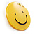 Yellow Plastic Smiling Face Brooch - view 4