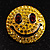 Round Yellow Crystal Smiling Face Brooch - view 6