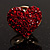 Tiny Crystal Heart Pin (Red) - view 2