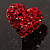 Tiny Crystal Heart Pin (Red) - view 4