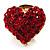 Tiny Crystal Heart Pin (Red)