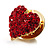 Tiny Crystal Heart Pin (Red) - view 6
