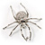 Giant Clear Crystal Spider Brooch - view 7