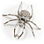 Giant Clear Crystal Spider Brooch - view 9