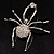 Giant Clear Crystal Spider Brooch - view 2