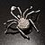 Giant Clear Crystal Spider Brooch - view 11