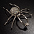 Giant Clear Crystal Spider Brooch - view 6