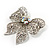 Large Crystal Filigree Bow Brooch - view 8