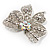 Large Crystal Filigree Bow Brooch - view 3