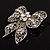 Large Crystal Filigree Bow Brooch - view 5