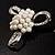 Fancy Simulated Pearl Bow Brooch - view 3