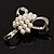 Fancy Simulated Pearl Bow Brooch - view 5