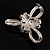 Fancy Simulated Pearl Bow Brooch - view 6