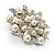 Bridal Faux Pearl Floral Brooch (Light Cream) - view 4