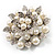Bridal Faux Pearl Floral Brooch (Light Cream) - view 6