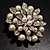 Bridal Faux Pearl Floral Brooch (Light Cream) - view 5