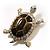 Fortunate Crystal Enamel Turtle Brooch (Gold&Olive)