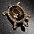 Fortunate Crystal Enamel Turtle Brooch (Gold&Olive) - view 6