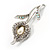 Clear Crystal Calla Lily Brooch - view 3